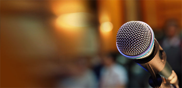microphone with background